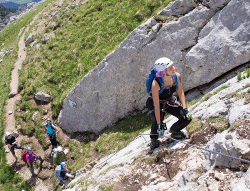 Klettersteigkurs im Rofan am 5 Gipfel Klettersteig und im Ötztal am Stuibenfall und Lehnerwasserfall Innsbrucker Klettersteig